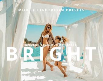 Lightroom Presets, 4 Mobile Presets, Bright and Airy, Presets Lightroom, Presets, Modern Presets, Phone Preset,  mobile, Instagram, Blogger