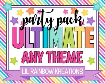 ULTIMATE PARTY PACK - Choose Any 15 Printable Files