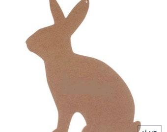 Plain Wood Bunny Rabbit. Bare Wood Rabbit. Sitting Rabbit Paintable. Unfinished Wood Rabbit.