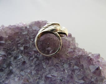 Sterling Silver Bald Eagle Ring Sz 5 1/2