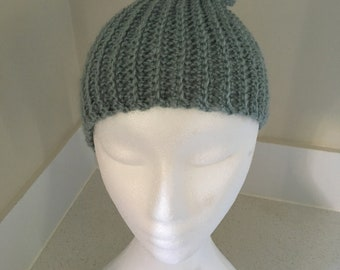 Simple Slouch Hat in Light Teal/Duck Egg Blue