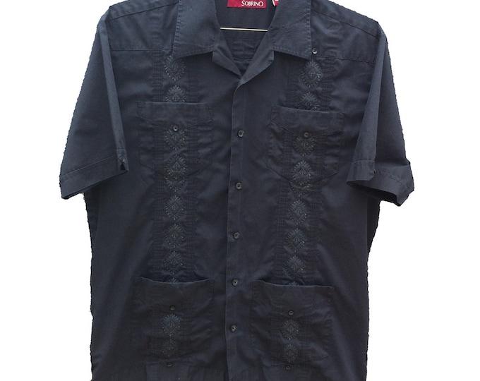 Men's Medium Guayabera Sobrino Dress Shirt