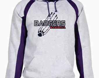 Badgers Baseball Hook Hoodie - 1262