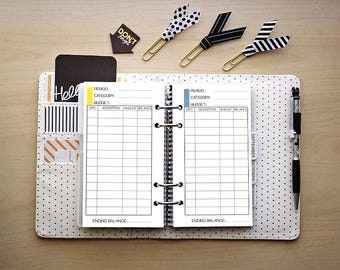 Personal planner insert / PRINTABLE / budget tracker / expenditures /