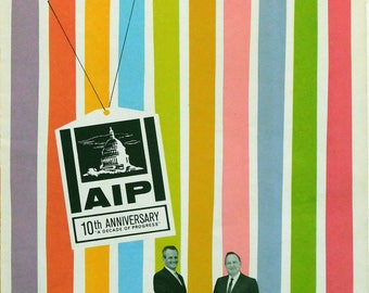 AMERICAN INTERNATIONAL  PICTURES 10th Anniversary Promo Booklet, 1964
