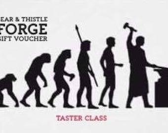 Beginners blacksmithing taster class.