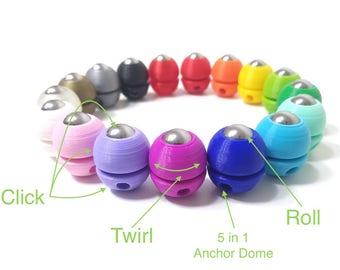 Flippit Fidgi-Fob Fidget Keychain/ADHD/Focus Toy/Desk Fidget/Stim Toy/Anxiety Relief/Sensory/Stress