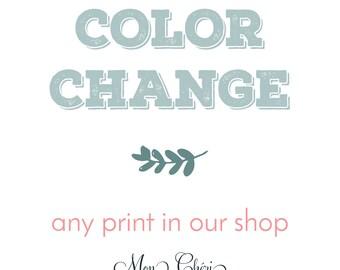 Color Change for MonCheriPaperie