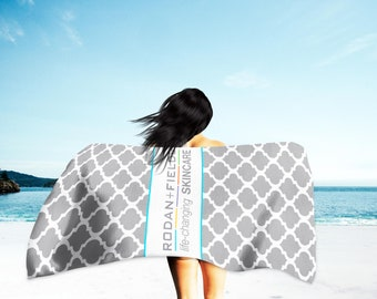 Rodan + Fields Beach Towel - Independent Consultant Gifts - RF Gifts - Christmas Gift - Swag - PC Perks - Microfiber Towel