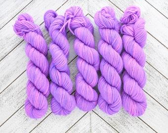 Or Not To Be Frank Mini - Hand Dyed Sock Yarn Heavy Fingering Weight 20g Mini Skein 92yds PlumpleBee Base 75/25 Superwash Merino/Nylon