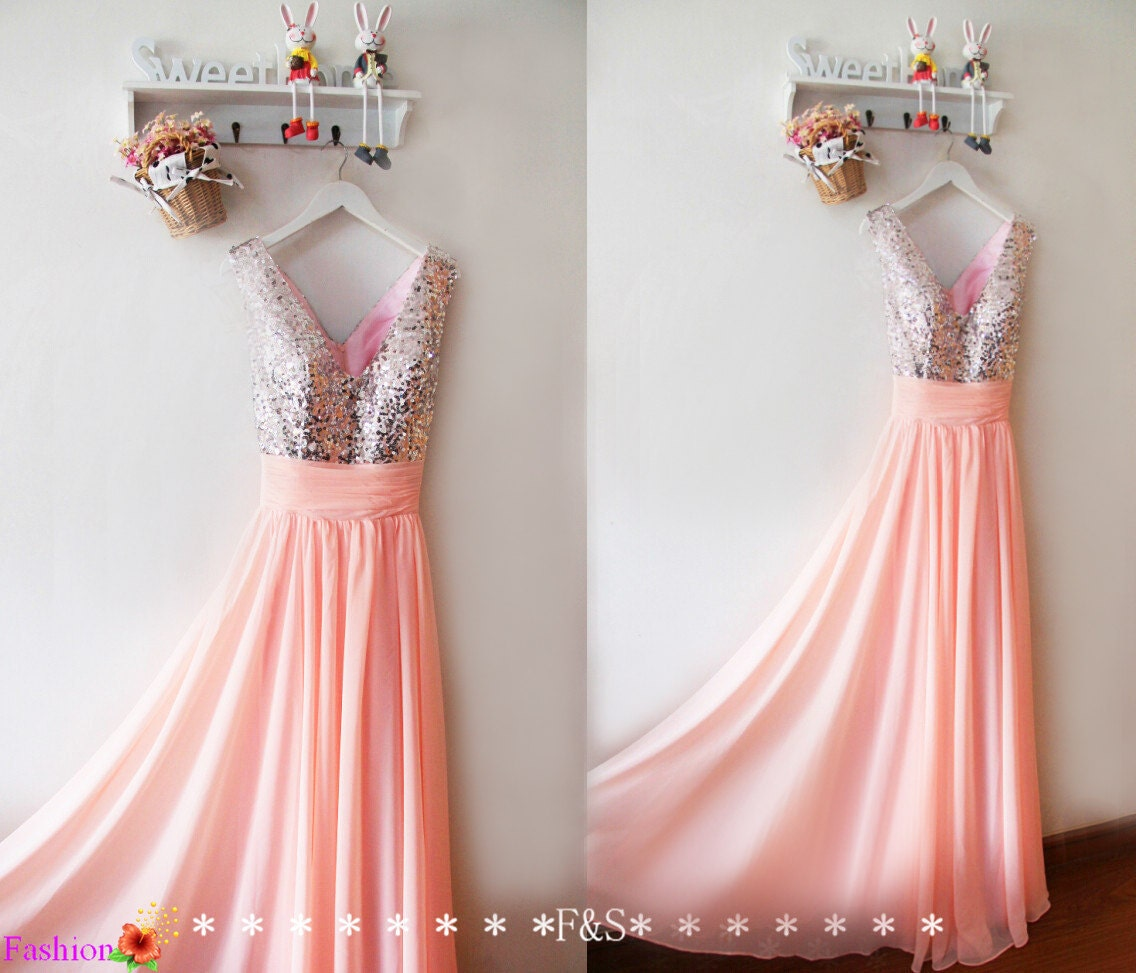 Pink prom dresspink evening long sequin prom dressblush zoom ombrellifo Image collections