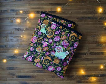 Flower booksleeve_hardcover booksleeve paperback_extra puffy booksleeve_bibliophile_bookaholic_book protector_reader gift_floral book cozy
