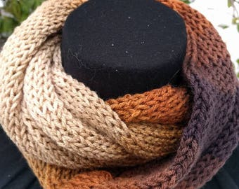 Shades of brown Infinity scarf