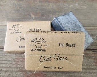 Organic Activated Charcoal Soap COAL FACE-Handmade Soap-Palm Free Soap