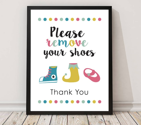 Greatest Please remove your shoes sign PRINTABLE arttake shoes off ZA22