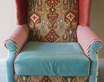 Bohemian Wingback Chair   SOLD