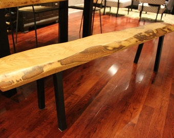 Live Edge Reclaimed Wood Bench