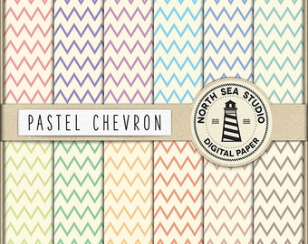 PASTEL ZIGZAG Chevron Digital Paper Pastel Chevron Paper Pastel Backgrounds Digital Scrapbooking 12 Jpg 300 Dpi Files Download BUY5FOR8