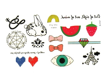 Doodles Tattoo Sheet - 1 Pc