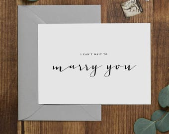 I Can't Wait To Marry You, Wedding Card to Bride or Groom, Wedding Day Card, Wedding Cards Wedding Stationery Cards, Future Husband Wife, K4