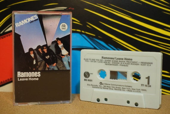 Leave Home by Ramones Vintage Cassette Tape