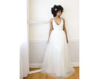 Wedding Skirt - Ivory,  Adult Tutu,  Long Tulle Skirt, Maxi Tutu, Adult Tulle Skirt, Tulle Wedding Skirt, Bridesmaid Skirt, Black Owned Shop
