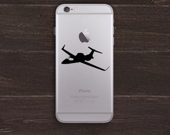 Private Jet Vinyl iPhone Decal BAS-0309