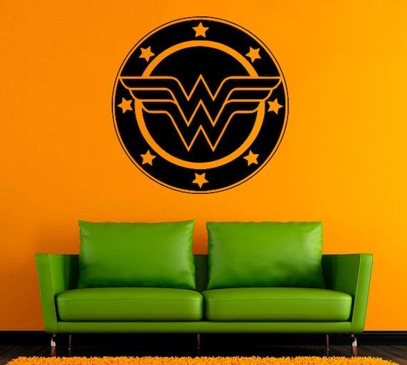 Wonder Woman Logo Design Justice League Film Decal Girls
