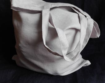 Light Gray Tote Bag, Linen Shopper Bag, Linen Bag, Linen Tote Bag, Linen Bag in Light Gray Color