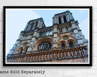 Cathedral Notre Dame 1 - Notre-Dame de Paris Landmark Pop Art Print and Poster France Monument Landmark Europe Travel Home Decor Canvas
