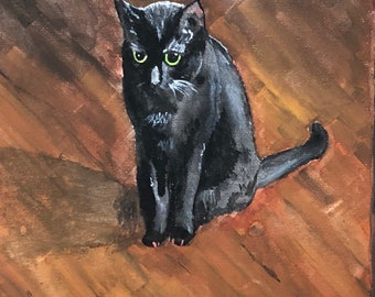 Watercolor Cat Portrait