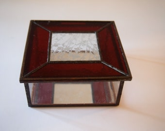Stained Glsss Trinket or Keepsake Box
