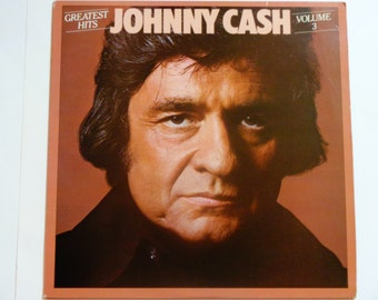 "Johnny Cash Greatest Hits Volume 3 - ""Old Time Feeling"" - Waylon Jennings - Country - Columbia Records 1978 - Vintage Vinyl LP Record Album"