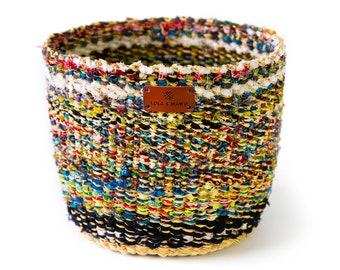 Fairtrade Vegan Bolga Basket - WOODS - Recycled basket