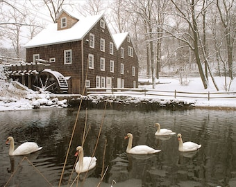Winter at Stony Brook Grist Mill