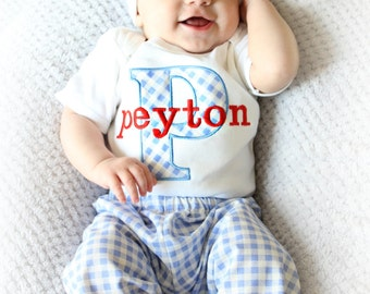 Baby Boy Clothes Personalized Outfit Bodysuit with Hat and Pants Options Personalized Baby Boy Newborn Boy Take Home Outfit Baby Gift