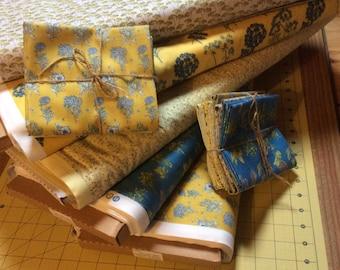 Fat Quarter bundle, fabric bundle, quilting fabric based on Inprint Jane Makower,  - Chelsea, 100% Cotton, herb fabric, flower fabric