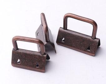 10pcs 16mm 20mm(inner) Key Fob Hardware RibbonKey Fobs Fabric Keyfob For Lanyards Keychains Straps Wristlets
