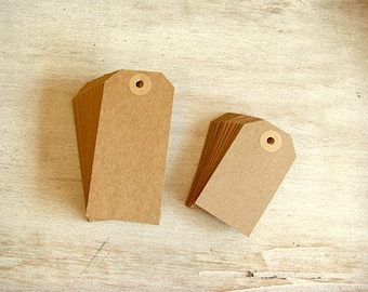 30 kraft gift tags (small and large)