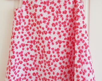 Pink Flower Girls Pinafore Dress Age 3 years