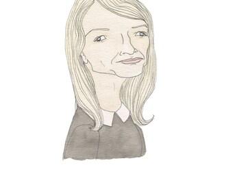 J.K. Rowling -  Literary Portrait Print