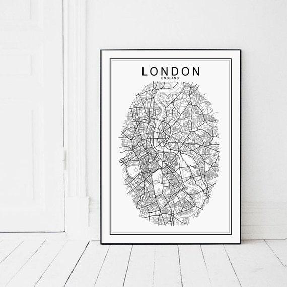 London Map LONDON London Print London Poster London Map