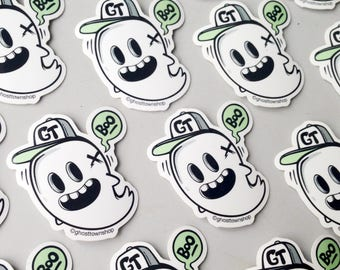Kawaii Vinylsticker Skate Aufkleber Monster Vinyl Sticker Halloween with cute Ghost - Ghost Town