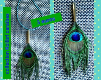 1 purchased = 1 available! Peacock feather pendant
