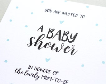 Baby Shower Invitations - x10 - Polka Dots - Gender Neutral | gifts for her