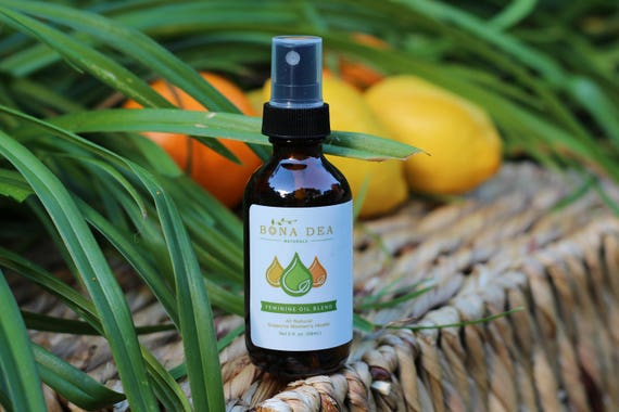 Bona Dea Feminine Oil Blend 2 oz.   All-Natural Feminine Spray with Essential Oils   No fillers, No Water - 100% Oil Blend