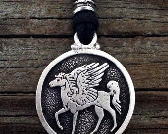 Pegasus Pewter Pendant