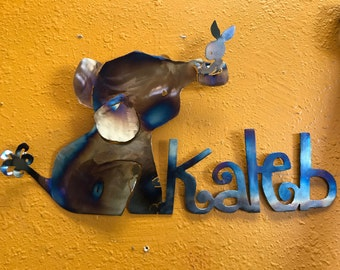 Baby Elephant custom wall art