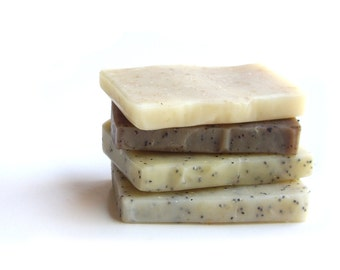 Scrub Soap Sampler Set Travel Soap Natural Soap Favor Vegan Soaps Sampler Pack Body Scrub Exfoliating Scrub Guest Soap Samples Mini Soap Bar