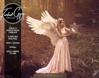 Angel & Demon Wing Overlays + Bonus rainbow wings!